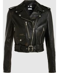 RE/DONE - Reconstructed Leather Moto Jacket - Lyst