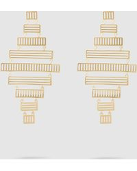 Arme De L'Amour - Stripe Chandelier Drop Earrings - Lyst
