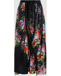 Preen By Thornton Bregazzi - Travis Floral-print Silk-blend Skirt - Lyst