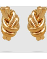 JW Anderson - Knot Gold-plated Earrings - Lyst