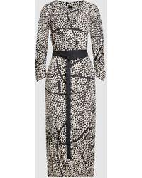 Zero + Maria Cornejo - Printed Ruched Silk-charmeuse Bubble Dress - Lyst