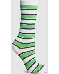 Ganni - Classon Metallic Striped Socks - Lyst