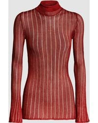 Ellery Woman Ribbed-knit Turtleneck Top Purple Size 14 Ellery Sale Online Shopping YXpAY