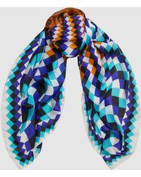 Mary Katrantzou - Printed Silk-chiffon Scarf - Lyst