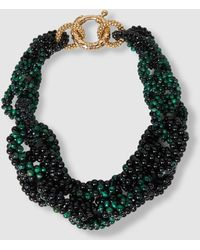 Rosantica - Carrarmato Beaded Quartz And Onyx Necklace - Lyst