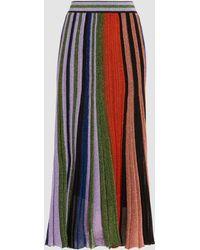 Missoni - Pleated Metallic Crochet-knit Midi Skirt - Lyst