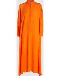 Rachel Comey - Solicitous Button-up Viscose Kaftan Dress - Lyst