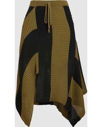 Marques'Almeida - Asymmetric Draped Stripe Skirt - Lyst