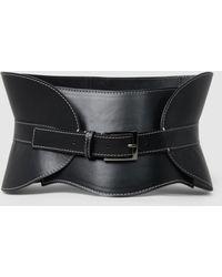 Alberta Ferretti - Leather Corset Belt - Lyst