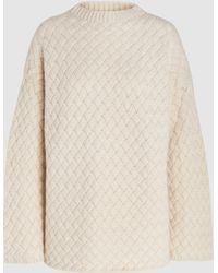 Mansur Gavriel - Basketweave Oversized Cashmere Sweater - Lyst