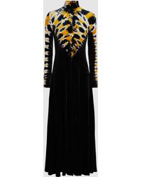 Proenza Schouler - Tie-dye Stretch-velvet Turtleneck Midi Dress - Lyst