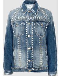 FRAME - Le Studded Denim Jacket - Lyst