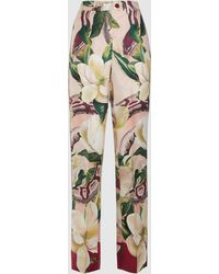 F.R.S For Restless Sleepers - Zelos Floral Print Straight Leg Trousers - Lyst
