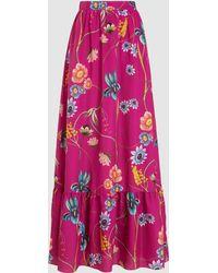 Borgo De Nor - Jacqueline Floral-print Silk Maxi Skirt - Lyst