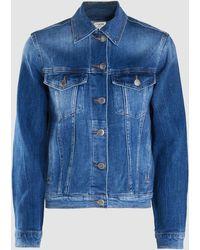 FRAME - Le Vintage Stretch-denim Jacket - Lyst