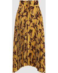 A.L.C. - Maya Pleated Crepe Midi Skirt - Lyst