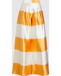 Taller Marmo - La Naranja Striped Duchesse Trousers - Lyst