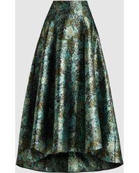 Erdem Hasina A-line Jacquard Midi Skirt - Green