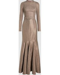 Madiyah Al Sharqi   Belted Fishtail Gown   Lyst