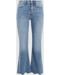 M.i.h Jeans - Lou Cropped Flared Jeans - Lyst