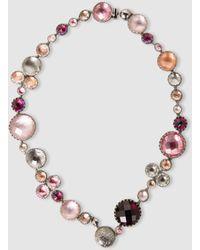 Larkspur & Hawk - Sadie Bubble Rivière White And Purple Quartz Necklace - Lyst