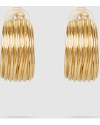 Aurelie Bidermann - Thalia Hammered Gold Clip-on Earrings - Lyst