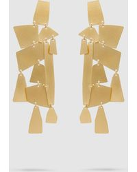 Annie Costello Brown - Mika Xl Gold-tone Earrings - Lyst