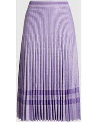 Baum und Pferdgarten Cyrilla Pleated Lurex Midi Skirt - Purple