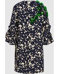 Delpozo - Embroidered Ruffle Coat - Lyst