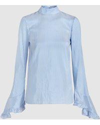 Erdem - Lindsay Striped Silk Blouse - Lyst