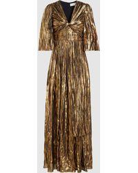 Peter Pilotto - Striped Silk Blend Chiffon Gown - Lyst