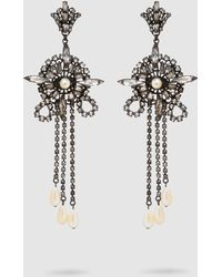 Erickson Beamon - China Club Pearl And Crystal Earrings - Lyst