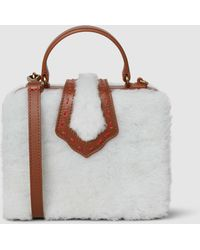Mehry Mu - Fey Mini Shearling And Leather Box Bag - Lyst