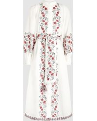 Zimmermann - Bayou Embroidered Linen Shirt Dress - Lyst