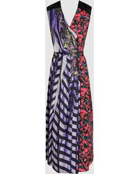 Marc Jacobs - Striped Floral Summer Dress - Lyst