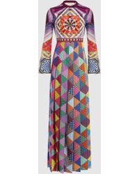 Mary Katrantzou - Desmine Printed Crepe De Chine Maxi Dress - Lyst