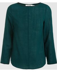 Cefinn - Boat Neck Top With Contrast Piping - Lyst