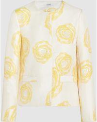 Ganni - Turenne Floral-jacquard Jacket - Lyst