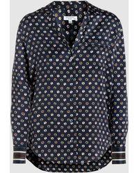 Equipment - Keira Printed Silk-satin Shirt - Lyst