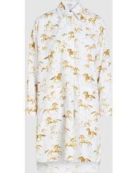 Ganni - Galloping Horse Print Shirt - Lyst