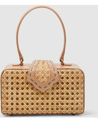 Mehry Mu - Fey In The 50s Woven Rattan Bag - Lyst