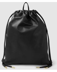 PB 0110 - Leather Drawstring Backpack - Lyst 30f7641325288