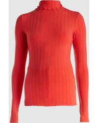 Simon Miller - Red Stretch Rib Rico Turtleneck - Lyst