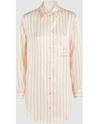 Beautiful Bottoms - Striped Sandwashed Silk-satin Shirt - Lyst