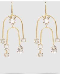 Erickson Beamon - Crystal And Gold-tone Mobile Earrings - Lyst