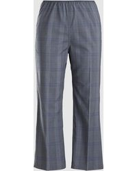 Sofie D'Hoore - Pica Prince Of Wales Check Cropped Wool Trousers - Lyst