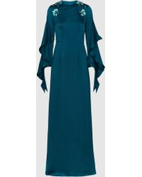 Safiyaa - Poseidon Embellished Hammered-silk Gown - Lyst