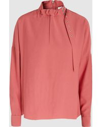 Tibi - Buckled Woven Top - Lyst