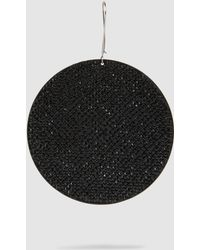 Marc Jacobs - Pavé Single Disc Earring - Lyst
