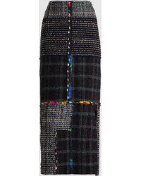 3.1 Phillip Lim - Patchwork Woven Tweed Midi Skirt - Lyst